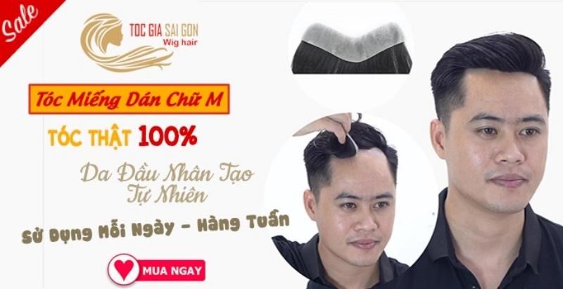 Tóc giả bằng tóc thật dược nhiều người yêu thích