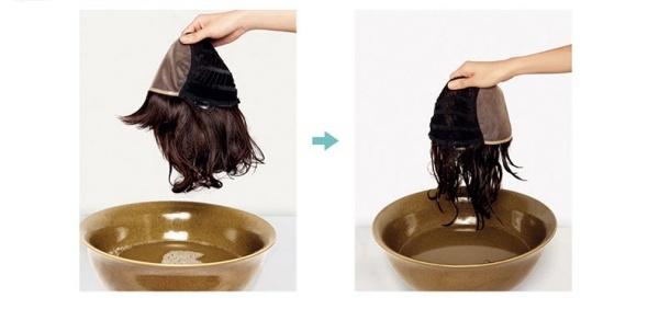 Gội, làm sạch và dưỡng tóc giả
